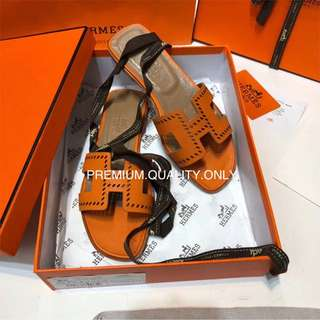 Hermes H Sandal in Orange colour