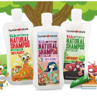 HUMAN❤NATURE Natural Shampoo and Body Wash 40ml/200ml/495ml