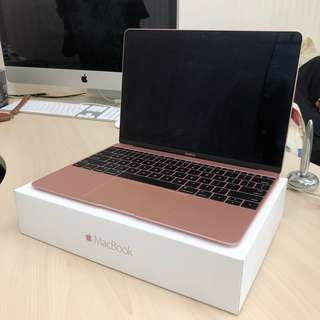 New MacBook 12inch Rose Gold MMGL2 intel core M3 1.1Ghz 8Gb 250Gb Jaksel