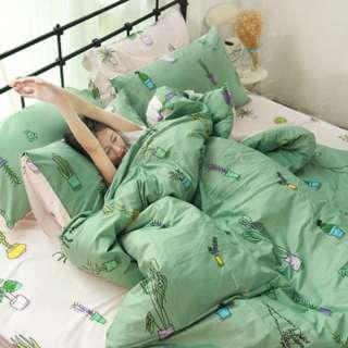 [Last Stock] Full set brand new 100% Cotton 40s Bedsheet Queen