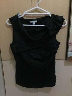 New york & co black silk top