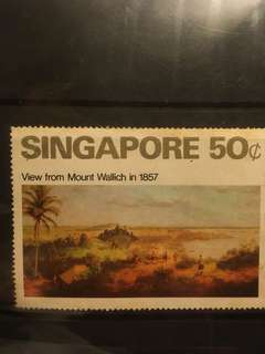 Old Singapore stamp