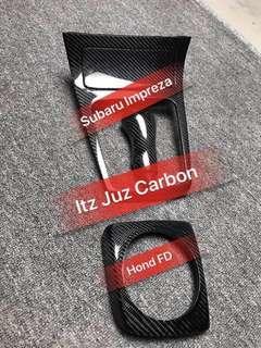 (Ready stock)Subaru Impreza Carbon Gear panel & Gear knob
