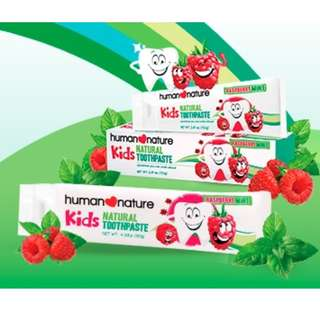 HUMAN❤NATURE Kids Natural Toothpaste 70g / 120g