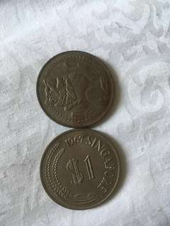 Old coins of Singapore