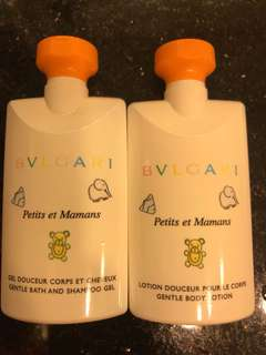 Bvlgari Petits et Mamans bath shampoo gel and body lotion BB爽身粉味