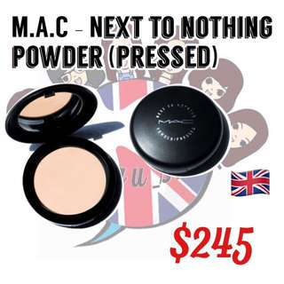 M.A.C. - Nest to nothing powder pressed