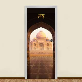Taj Mahal Residential Door Art