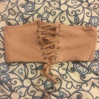 Pinkish nude corset belt
