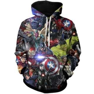 Earth's Heroes Unisex Hoodie Avengers Infinity War