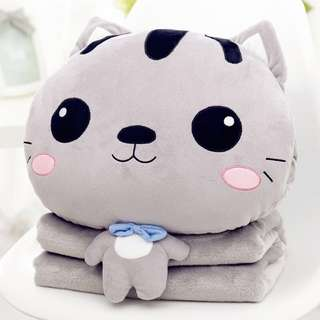 Cat Plushie and Blanket