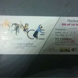 $50 dance pointe academy voucher
