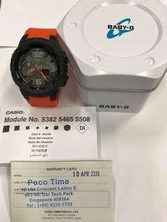 Black and orange Casio Baby G