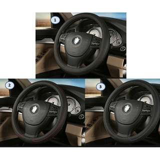 leather Steering Wheel Cover 39cm M-Size