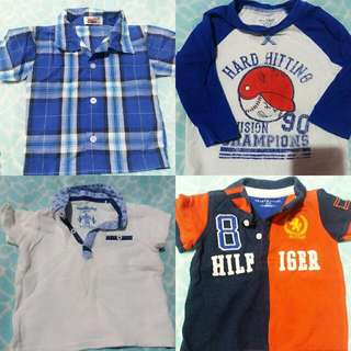 Assrtd Tops For Boys 1yr