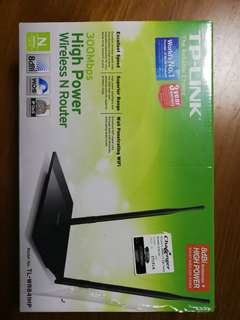 TP link high power wireless N router