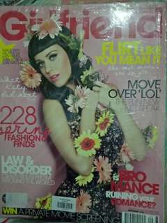 Katy Perry on cover Girlfriend magazine