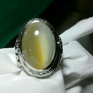 Yellow and white natural calcedoni pacitan