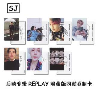 SJ SUPER JUNIOR REPLAY UNOFFICIAL PHOTOCARDS (LIMITED EDITION VER)