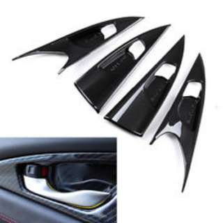 HONDA CIVIC FC INNER DOOR HANDLE CARBON COVER