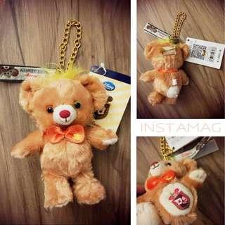 迪士尼 大學熊三月兔金鍊胖吊飾+徽章