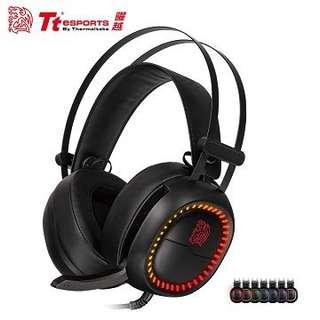 Tt eSPORTS震撼者SOCK 【進化版】 RGB 電競耳機(HT-HSE-ANECBK-23)
