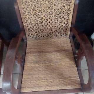 Dijual 4 kursi & meja huruf S jati lama