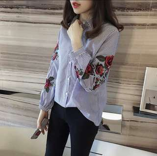 Ladies flora long sleeve shirt