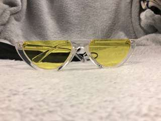 Vintage Half Frame Cat Eye Sunglasses