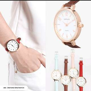Dreysina Plain analog Wristwatch jam tangan wanitA