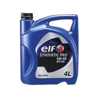 Minyak enjin fully synthetic pro ELF 5W40 (4L)