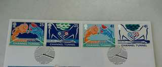 GB UK England Channel Tunnel Stamps & Special Postmark #2