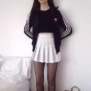 White Tennis Pleated Skirt
