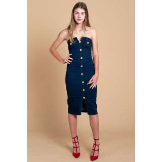 Skye Denim Bodycon Dress