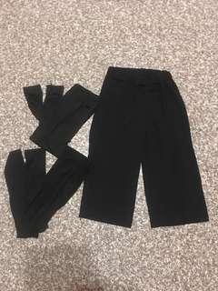 買一送二❤️六分寬褲送內搭褲*2
