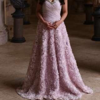 pre wedding 粉紫玫瑰晚裝