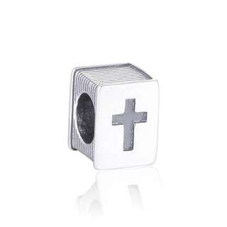 Code S71, Christian Jesus Bible Book 100% 925 Sterling Silver Charm, Chain Is Not Included