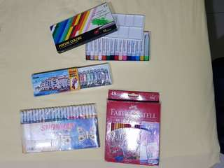 Pentel water color. Pentel poster color. Snowman coloring marker. Faber castle pencil color.