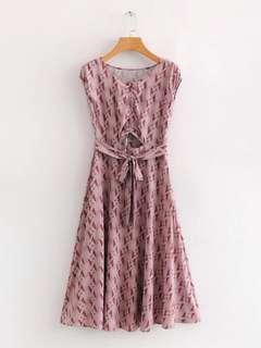 🔥Europe Colar Pink Diamond Square Leaking Lace Long Dress
