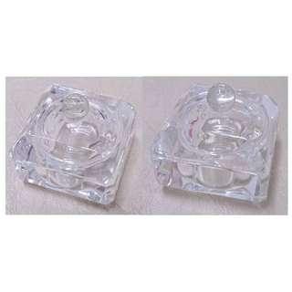 精美玻璃小盒 glass decorative little boxes 小擺設 Small decoration 迷你手飾小盒 Mini jewelry box 耳環戒指盒 Mini earrings ring box