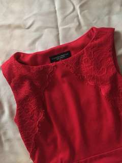 Dorothy Perkins Red Pepelum Top