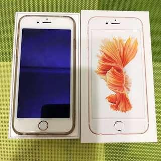 "iPhone 6S『玫瑰金』64GB 二手便宜賣""正面有貼全模保護貼"""