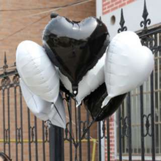 "18"" WHITE HEART Foil Balloons Valentines Party - 1pc"