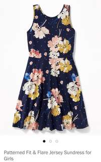 Old Navy Blue Flower Dress (XL Plus) NEW