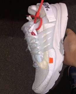 Off-White Nike Prestos Triple White Triple Black