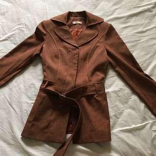 Brown Blazer Coat
