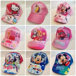 Unicorn Cap Minnie Cap Trolls Cap Mickey Cap Skye Cap Pony Cap Peppa Pig Cap Hello Kitty Cap