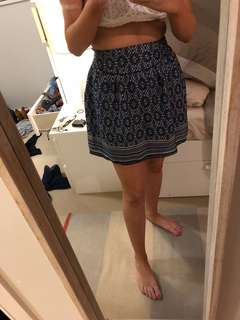 French patterned skirt