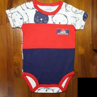 Baby Romper in Red/Blue (Short)