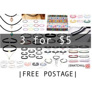 *BRAND NEW* Over 75++ Designs Chokers!! *BRAND NEW* Over 75++ Designs Chokers!!